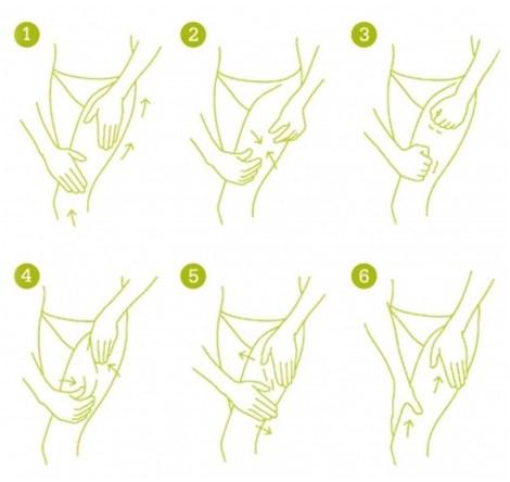 Техника массажа при целлюлите